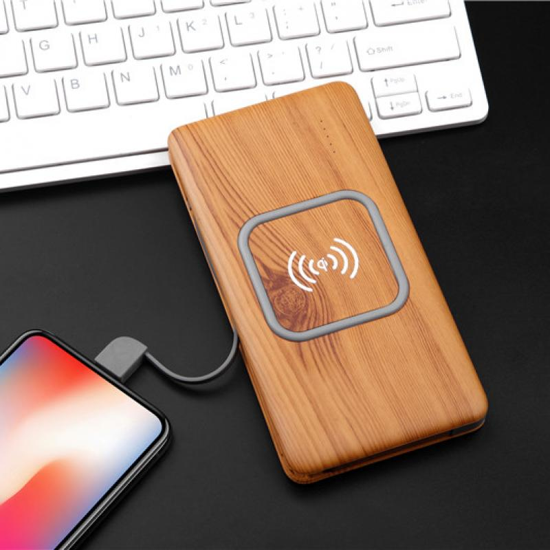Built-in Cable Wireless Power Bank