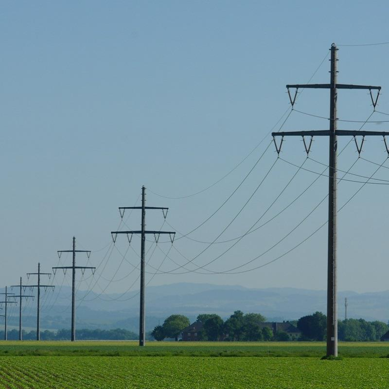Concrete Power Line Supports