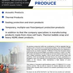 Thermal and Acoustic Insulation Sheets