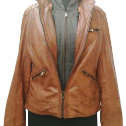 100% Genuine High Quality Leather Jacket For Ladies.