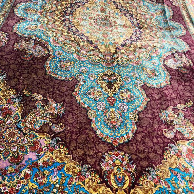 Pure silk  24   Meters Hand knotted carpet