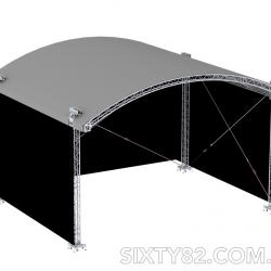 SIXTY82 Arc Roof Arched Stage Roof 10x8 m