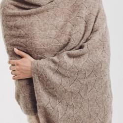 100% Yak and Camel Wool Shawl