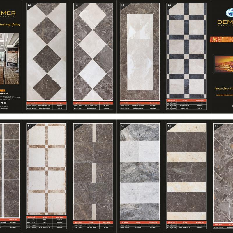 DEMMER marble and travertıne buy wholesale - company DEMMER HACI OMER OGULLARI COMPANY GROUP | Turkey