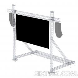 SIXTY82 Construction for LED Screen Hanging 6x4 m