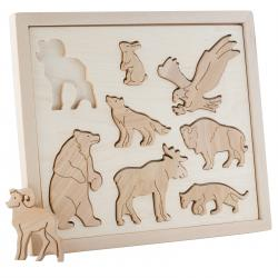 Wooden Sorter Animals of North America