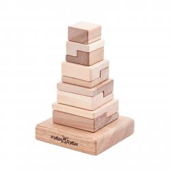 Children's Wooden Block Pyramid Techno