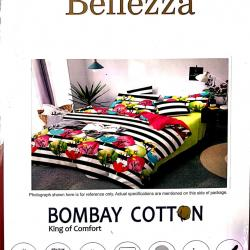 Bellezza Printed King Bedsheet with 2 Pillow Covers Set