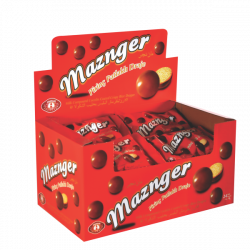 MAZNGER Milk and  Chocolate Compound Coated Dragee 25gr x 24 x 6