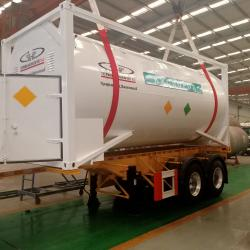 Mounted Tank Container Trailer for LPG and LNG