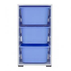 Toy Storage Unit with 3 Plastic Boxes