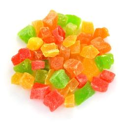 Mixed Candied Dried Pineapple Cubes 5 mm