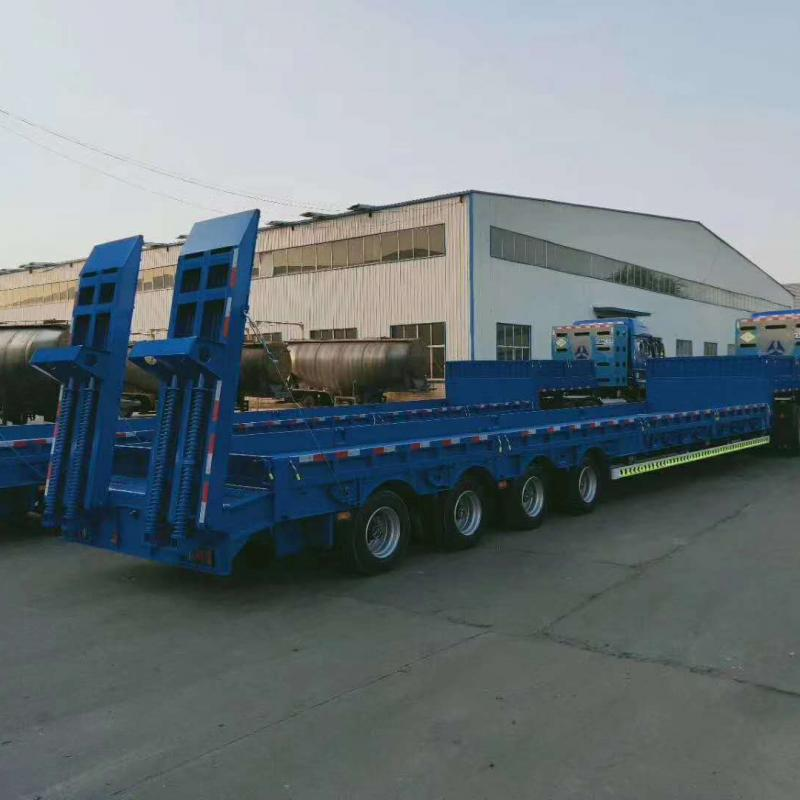 4 Axle Low Bed Excavator Transportation Trailer for Sale