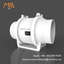 MIA W-01 Mixed Flow Inline Duct Fan Ventilation System Series(280-850m3/h)