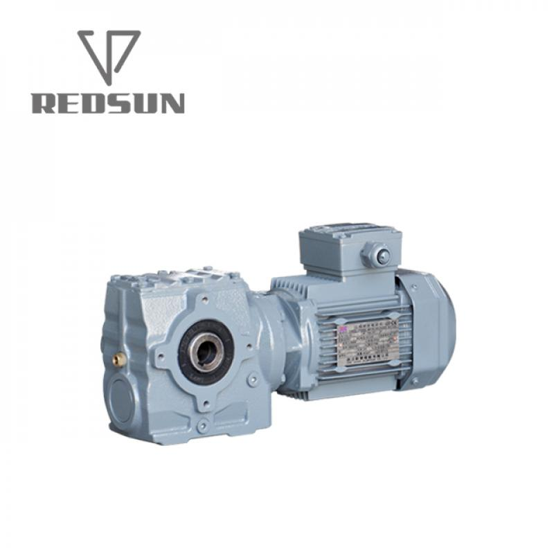 Redsun S Series Helical Worm Gearbox with Hollow Shaft Output