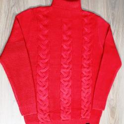Women's High Collar Twist Solid Color Pullover Sweater