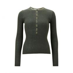 Women's Wool Henley Neck Sweaters