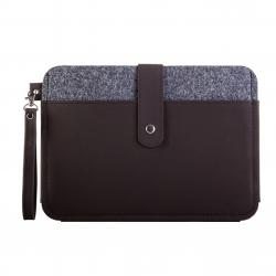 Felt and Leather Sleeve Tablet Bag KB19-75