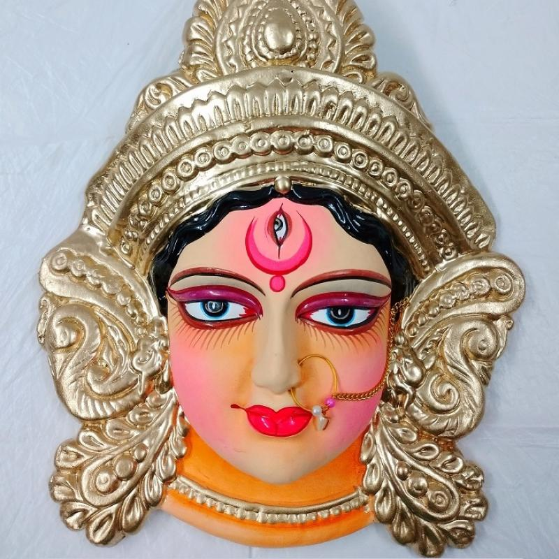 Handmade Personalized Gifting/Terracotta MAA DURGA FACE/The Perfect Corporate Gifts Idea