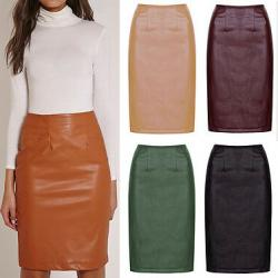 Women's Leather Skirts