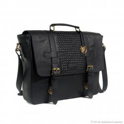 Soft Nappa Leather Briefcase Laptop Bag