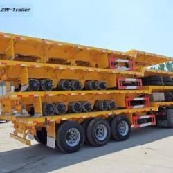 3 Axles Flatbed Semi Trailer