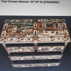 Four Drawer Сhest (Indian Handicrafts with Historic Paintings)