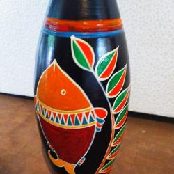 Hand Painted Clay Vases