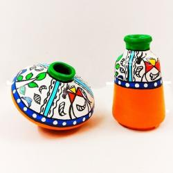 Hand Painted Clay Pots