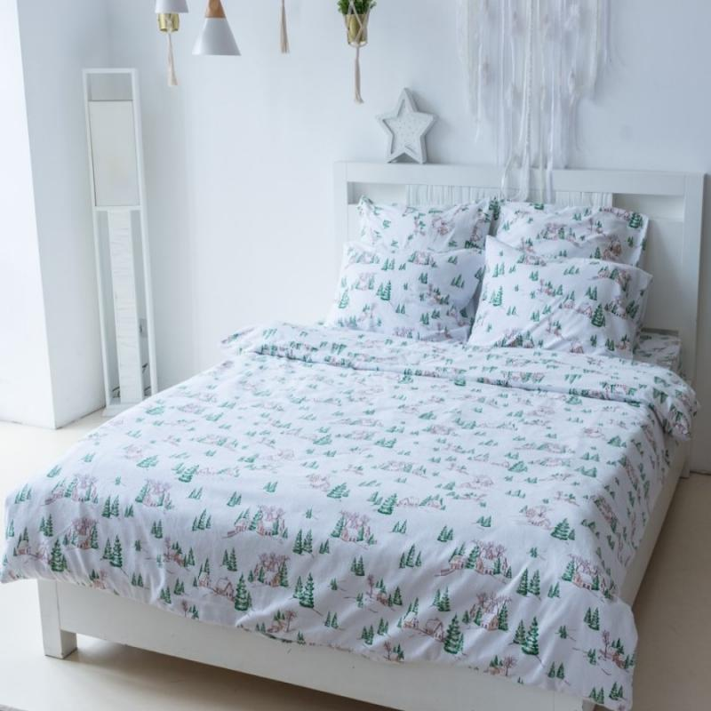 Flannel Bedding Set Snow Tale
